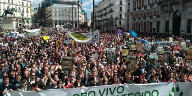 manifestación defensa del lobo iberico
