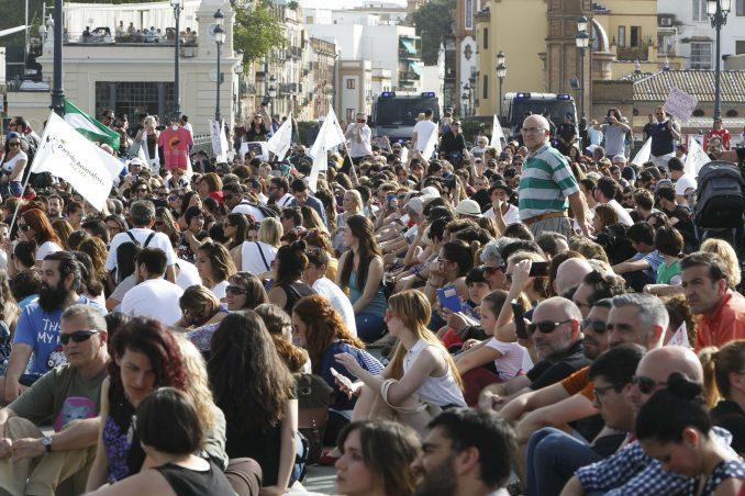 manifestantes contra tauromaquia