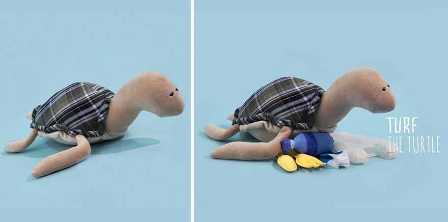 peluches para concienciar a los niños sobre el daño de la contaminación