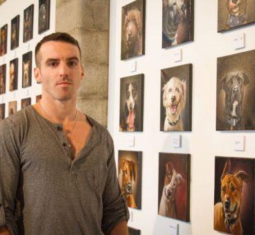 stephen gallagher retratos de perros