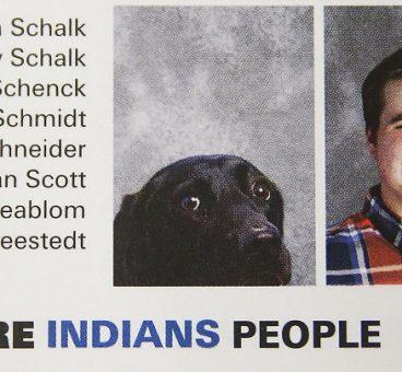 Alpha, el perro que aparece en el anuario del colegio