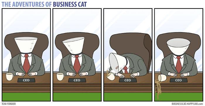 Este cómic te muestra cómo sería tu trabajo si tu jefe fuese un gato