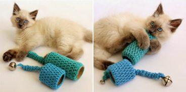 Cómo hacer juguetes para gatos en casa