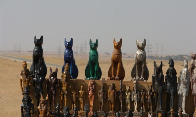 gatos en el antiguo Egipto