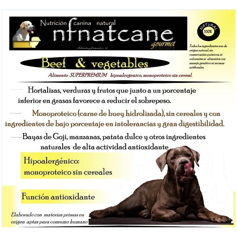 nfnatcane beef vegetables gourmet mejor pienso para perros