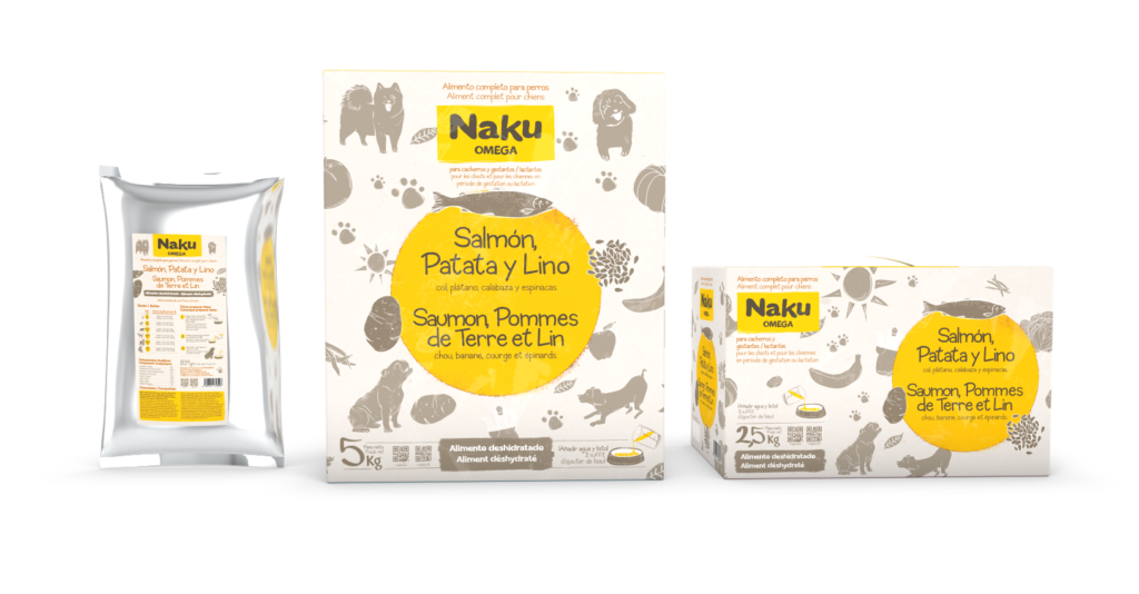 alimento para perros muy activos naku omega