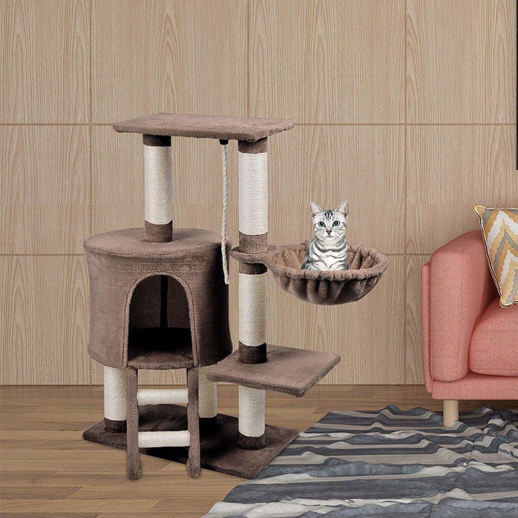 tipos de rascadores para gatos