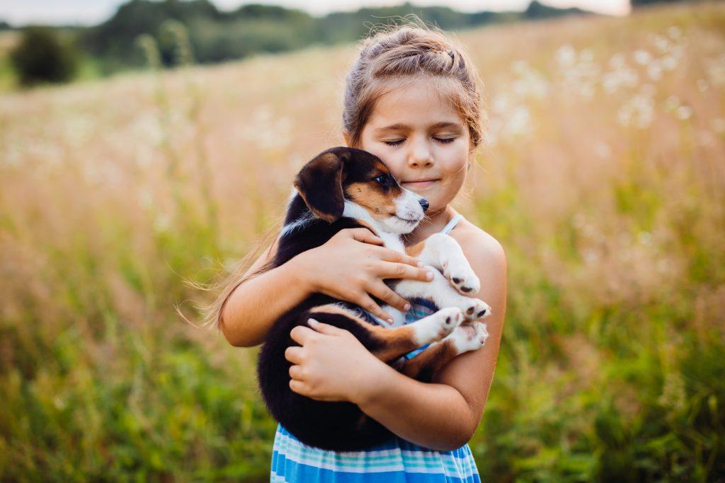 los perros son de las mejores mascotas para niños