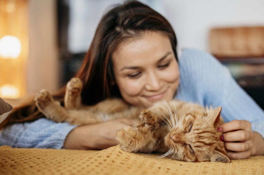 formas que tienen los gatos de demostrar amor