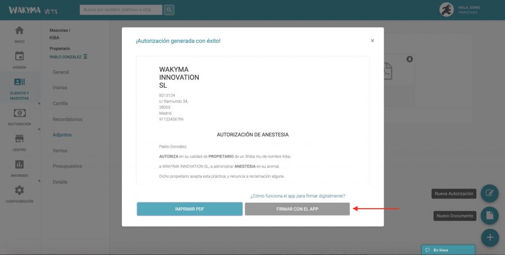 Firma digital de Wakyma Signing