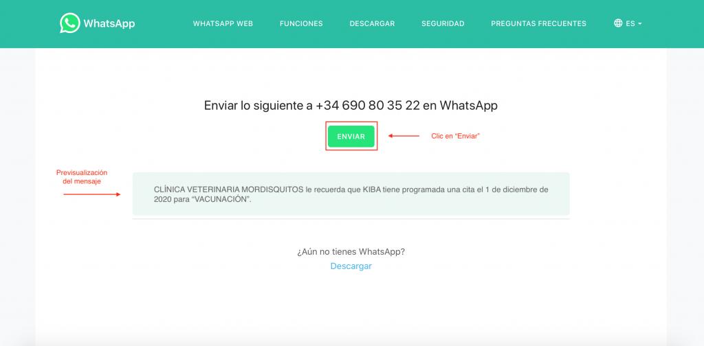 con wakyma vets puedes enviar recordatorios por whatsapp